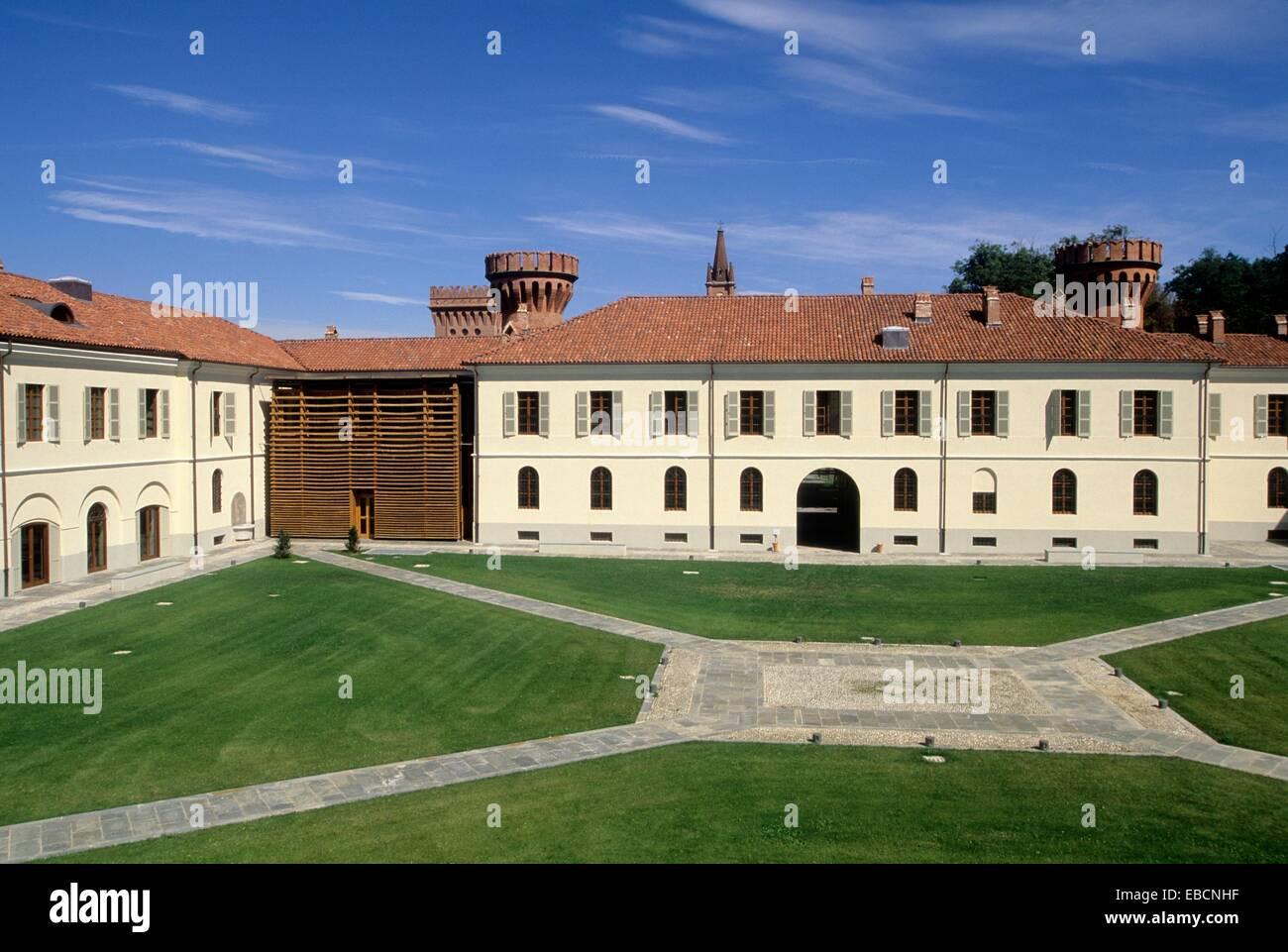 1800s 19th century Agenzia Albergo Alberto architecture brassière Carlo Cascina color image country cuneo estate - Stock Image