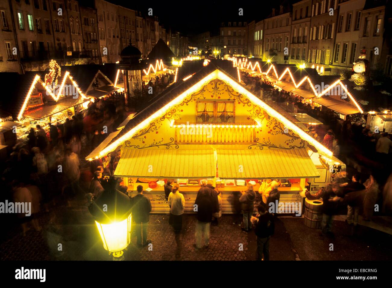 christmas market on the saint louis square saint nicholas day metz