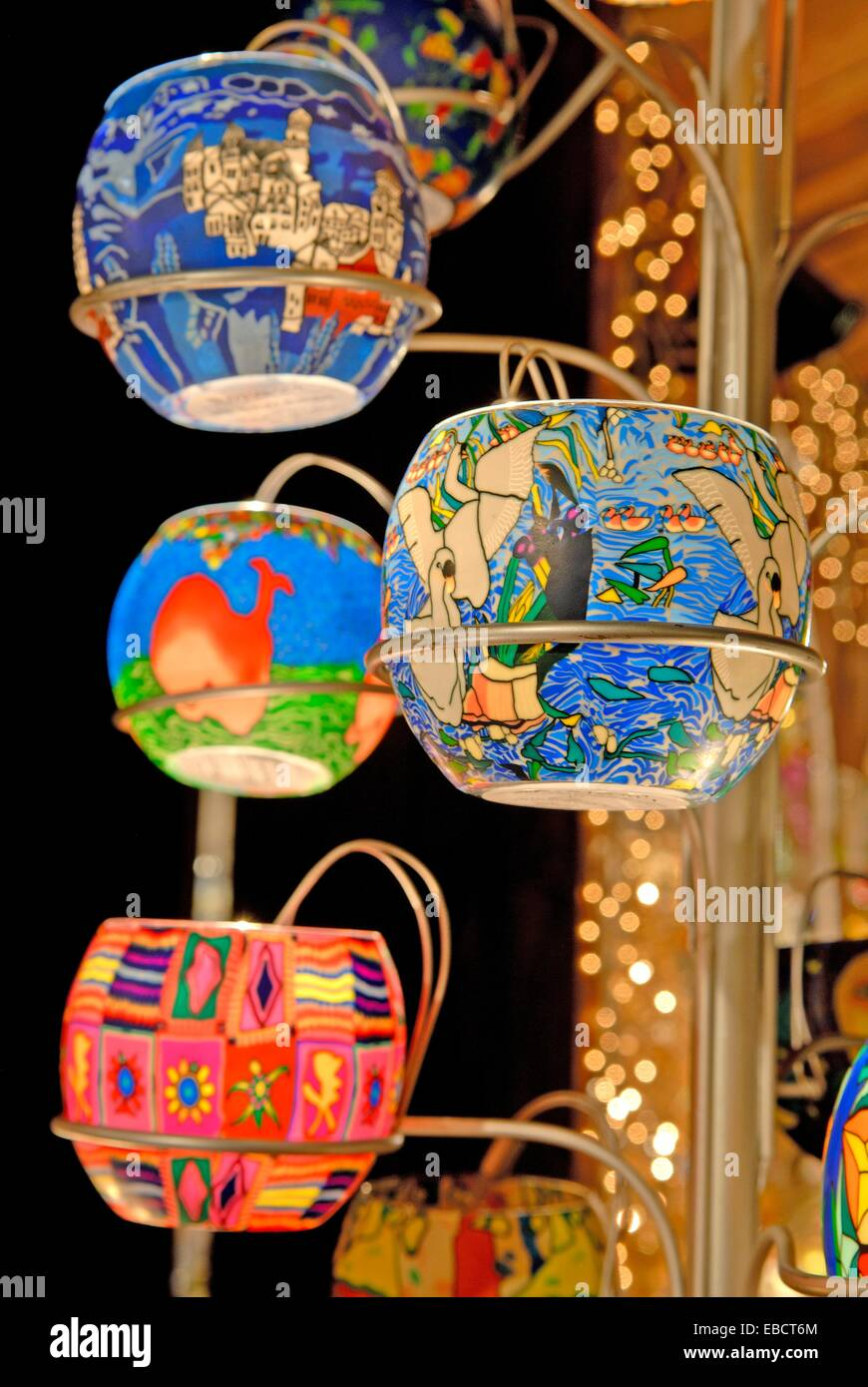 candle holders, Krakow, Poland, Central Europe - Stock Image