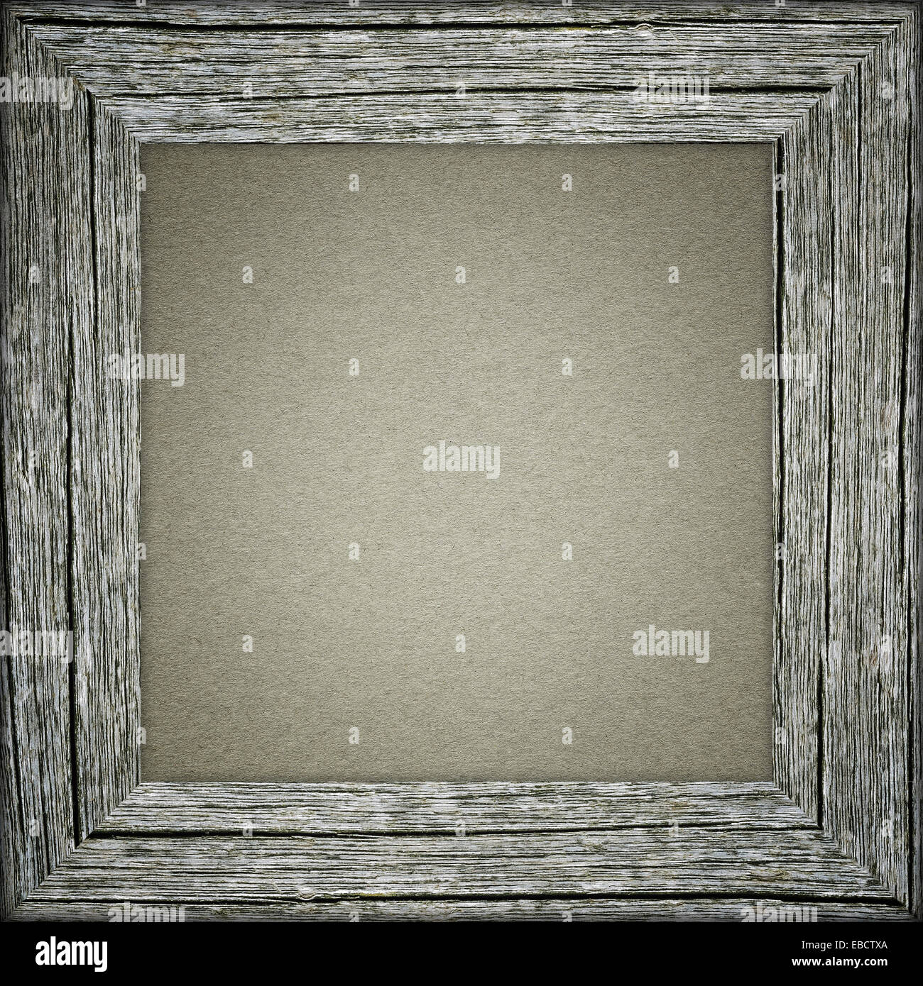 Old raw wooden frame with gray paper stock photo 75885666 for Frame per foto