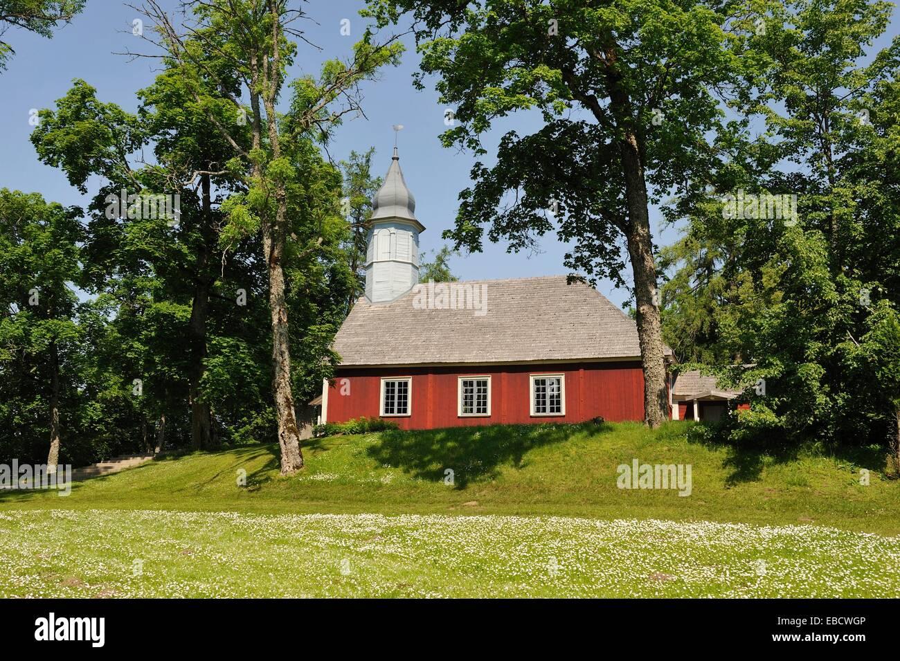 1750 architecture balte Baltic build building church color image E.U. Europe European Union Gauja horizontal Latvia - Stock Image