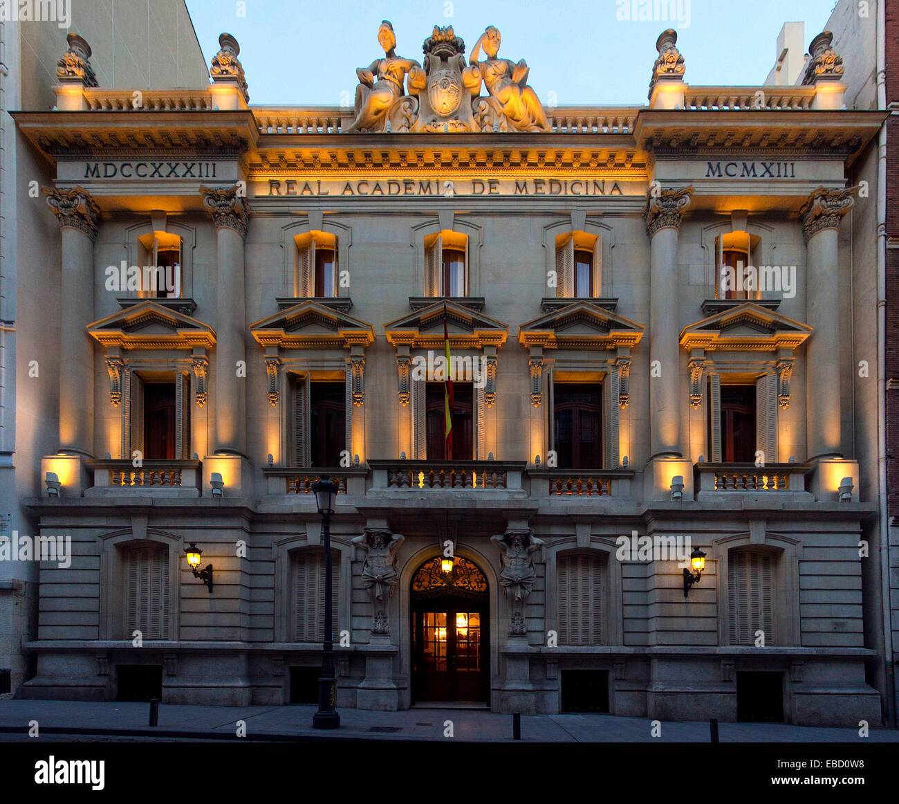 Real Academia Nacional de Medicina, Madrid, Spain Stock Photo