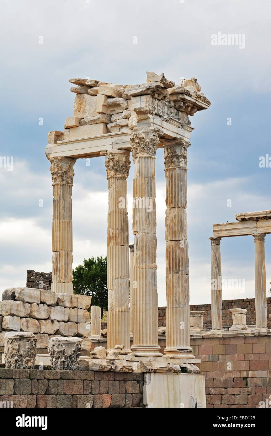 Ancient Greek and Roman city of Pergamon, Bergama, Turkey - Stock Image