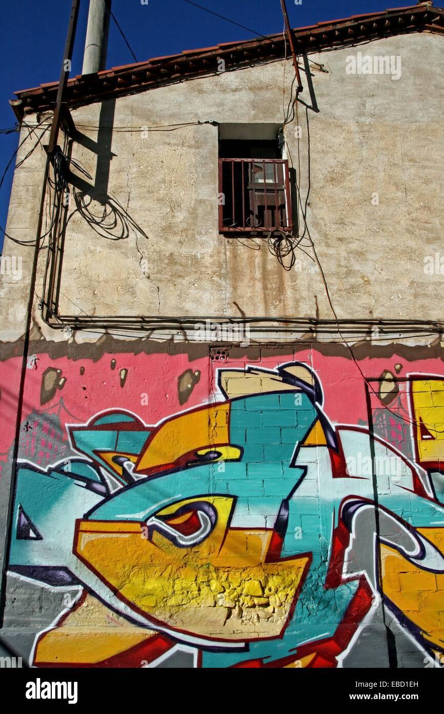 graffiti house Sant Fost de Campsentelles Catalonia Spain Stock Photo