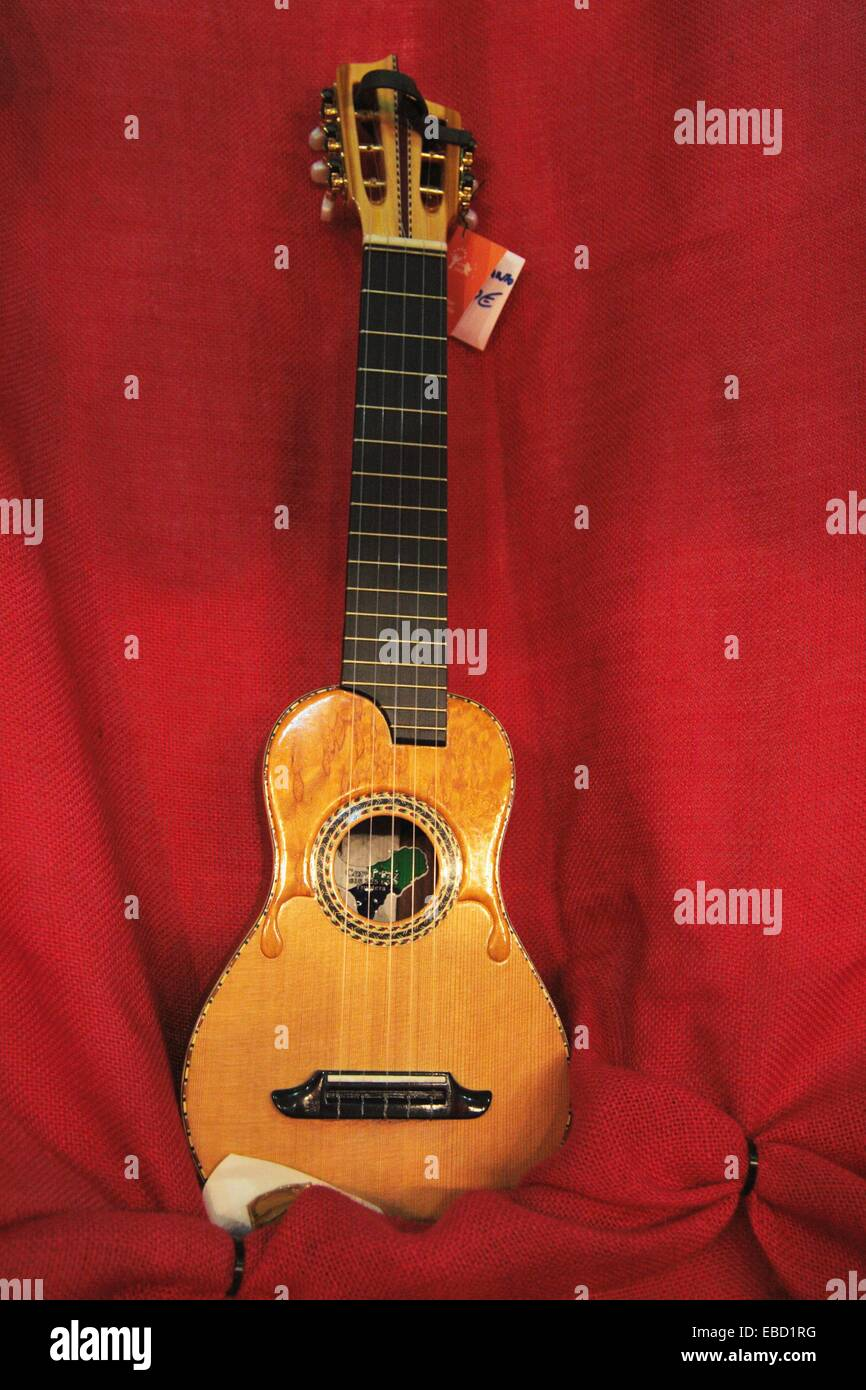 Timple: traditional stringed instrument native to the Canary Islands. - Stock Image