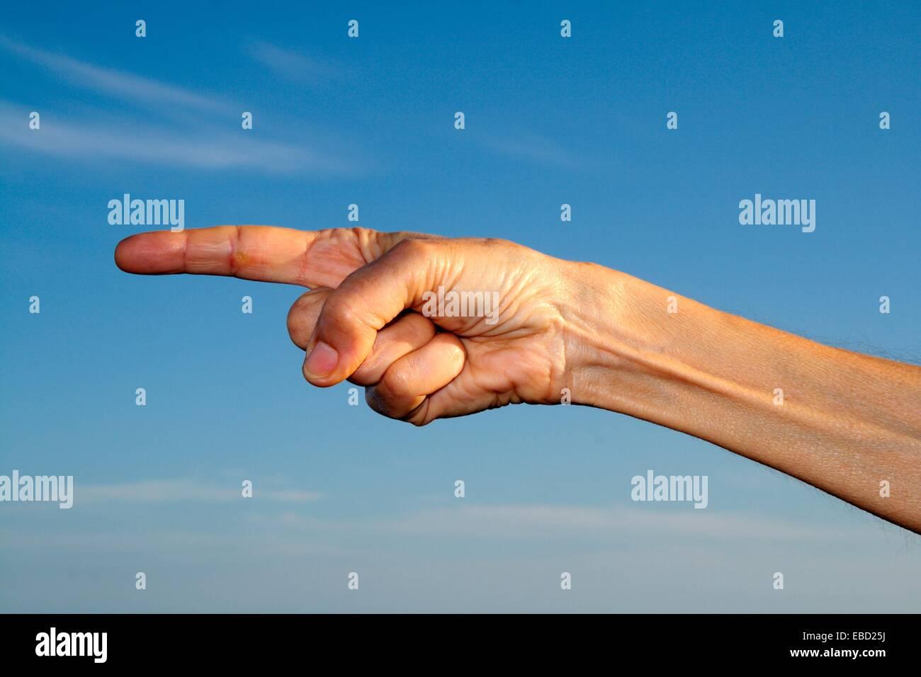 gesto manual, hand sign Stock Photo