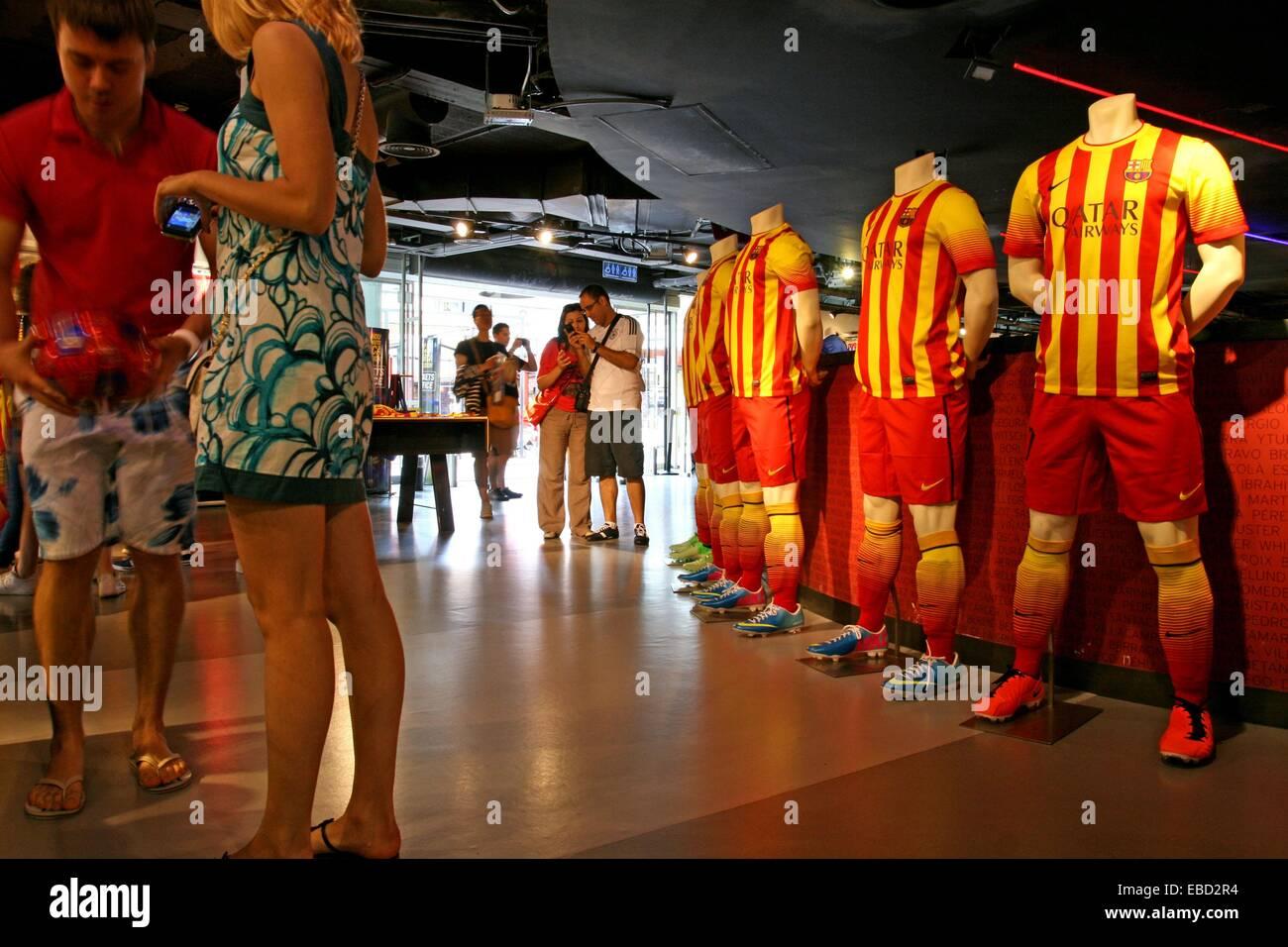 Sport equipment, store, FC Barcelona, Barcelona, Catalonia, Spain - Stock Image