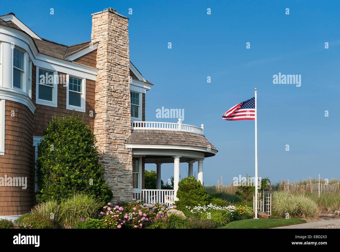 Luxury beach house, Stone Harbor, New Jersey, USA - Stock Image