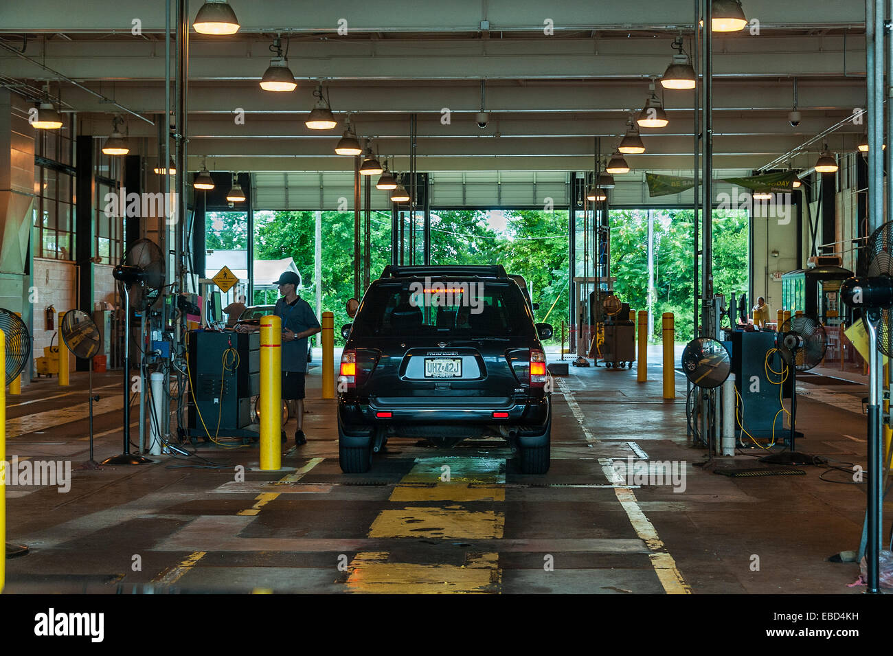 State auto inspection station, New Jersey, USA - Stock Image