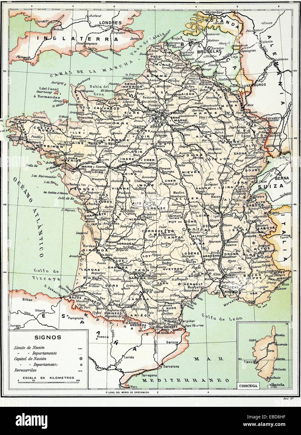 Map Of Europe 1900s Stock Photos Map Of Europe 1900s Stock Images