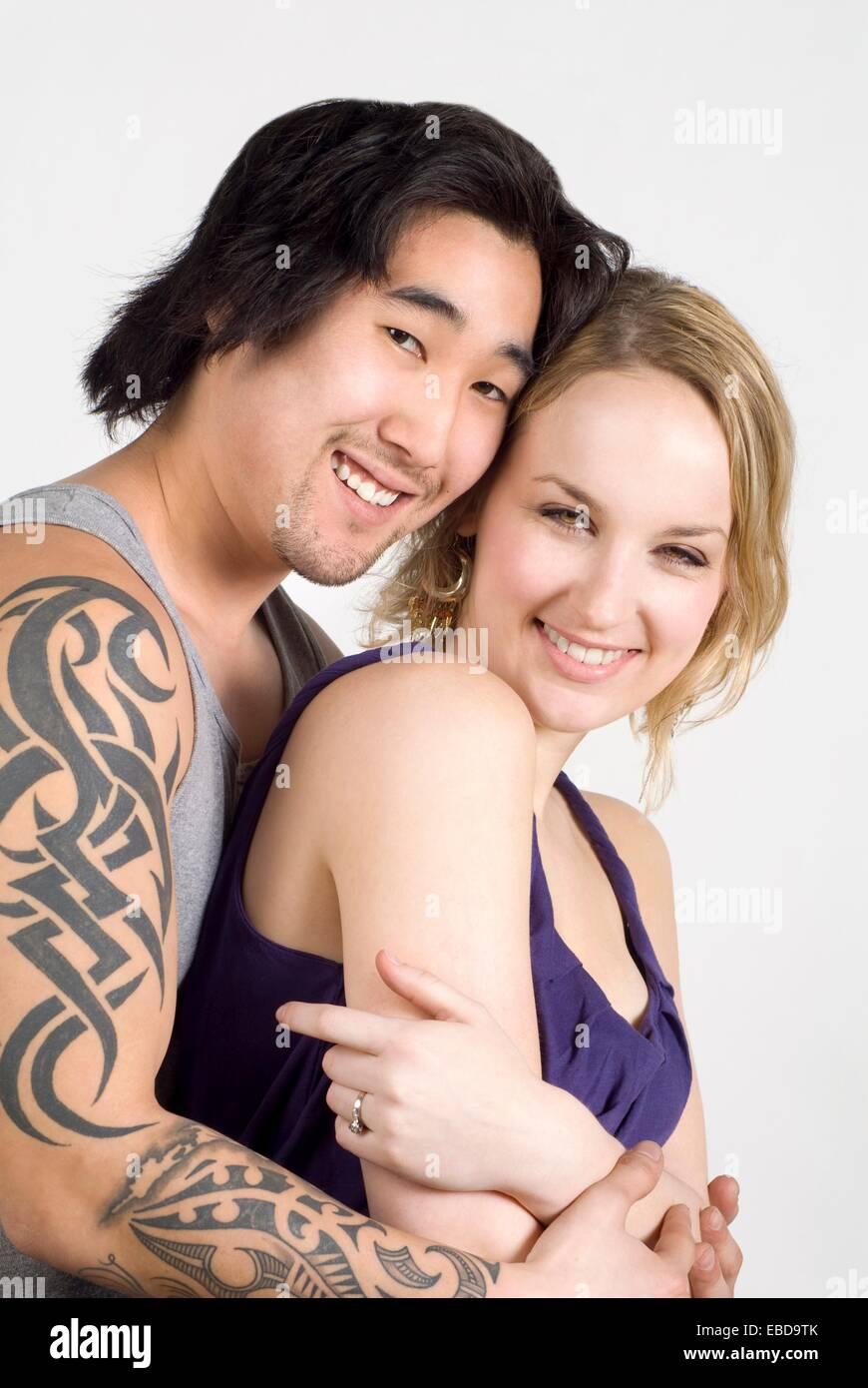 Happens. Let's Asian caucasian couple
