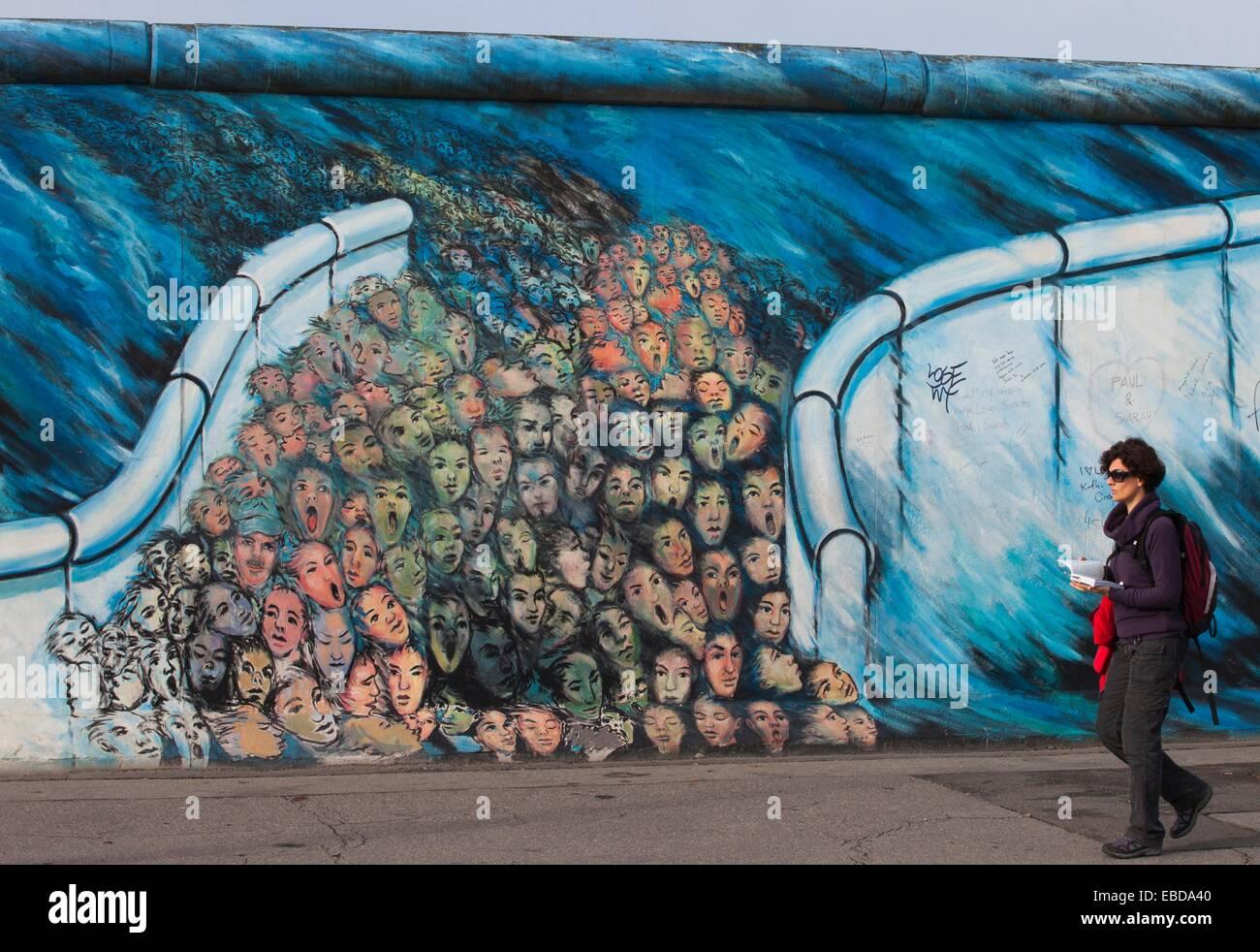 Art Berlin Berlin Wall Color Image Day East Side East Side Gallery Europe  Friedrichshain Gallery Germany Germay Graffiti
