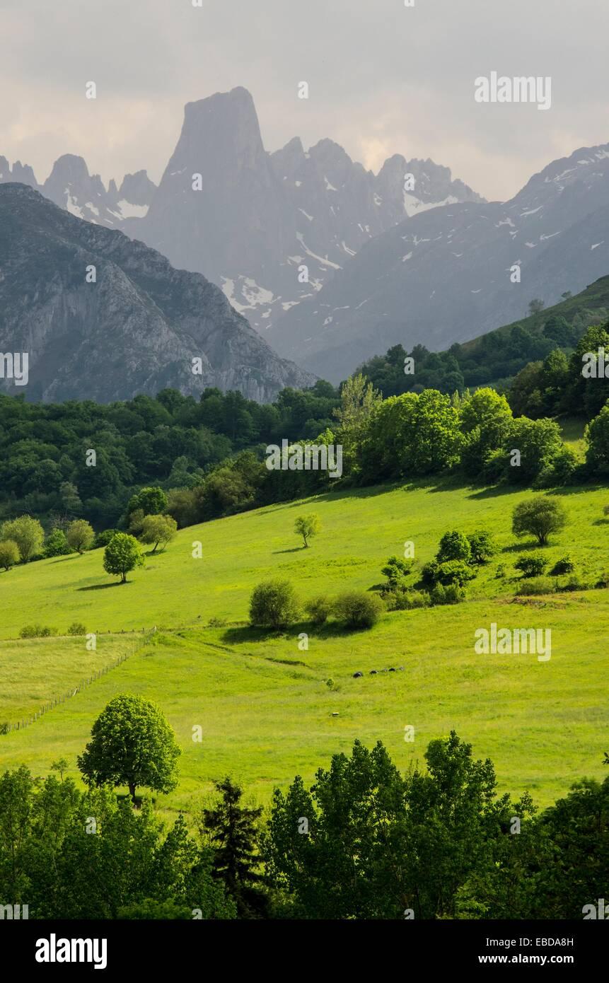 Naranjo De Bulnes Panoramic Views From Mirador Del Pozo De La Oración Stock Photo Alamy