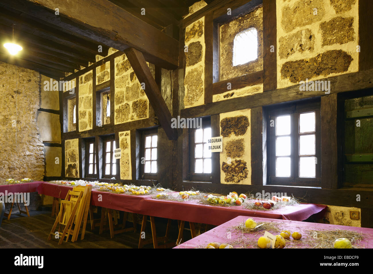 Ardixarra House, Interpretation Center of the Middle Ages, Segura, Goierri, Gipuzkoa, Basque Country, Spain - Stock Image