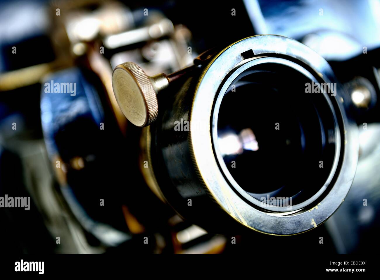 Lens Of The Old Cinema Projector