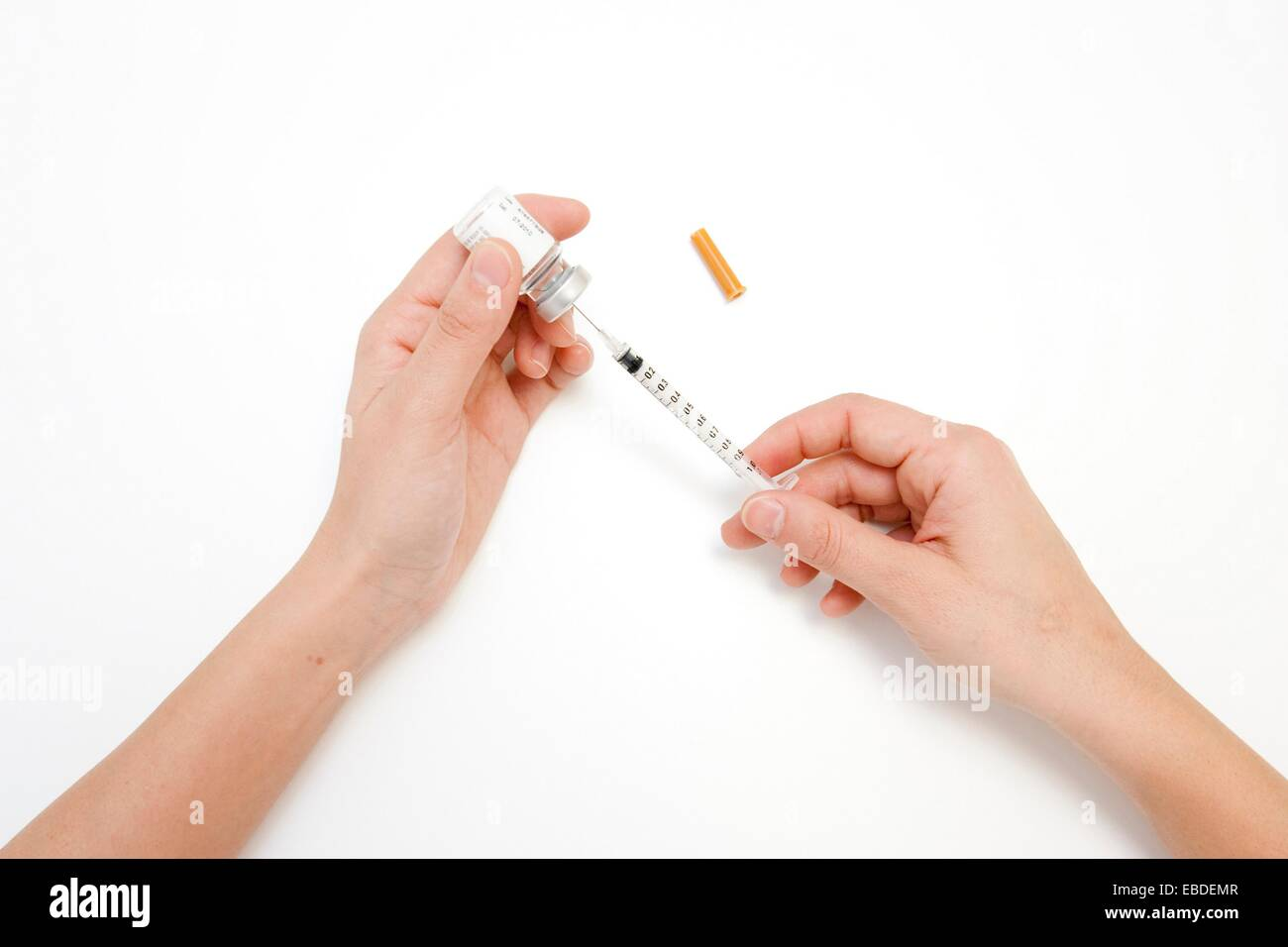 Insulin injection - Stock Image