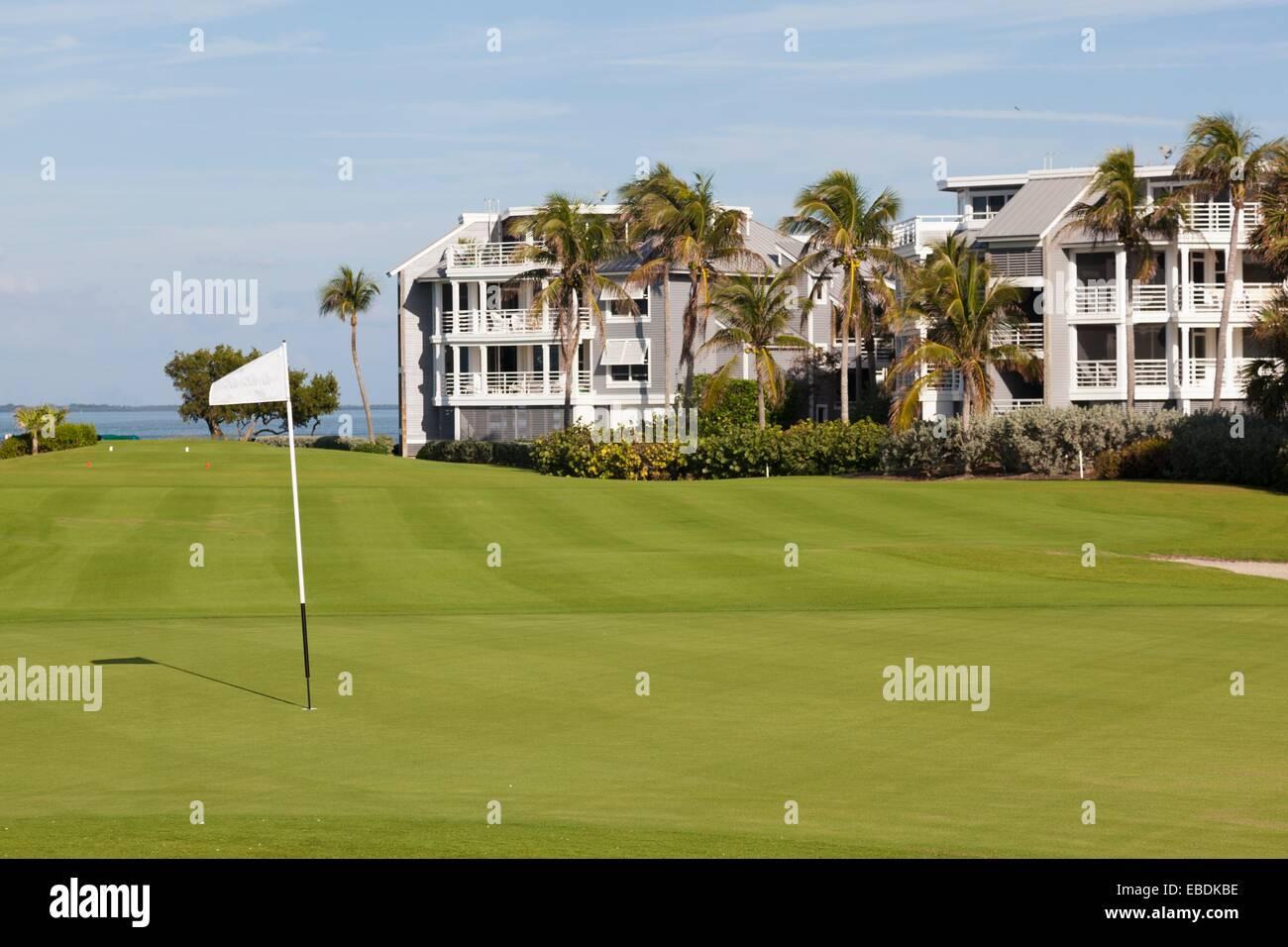 Golf course at South Seas Island Resort at Captiva, Florida, USA Stock Photo