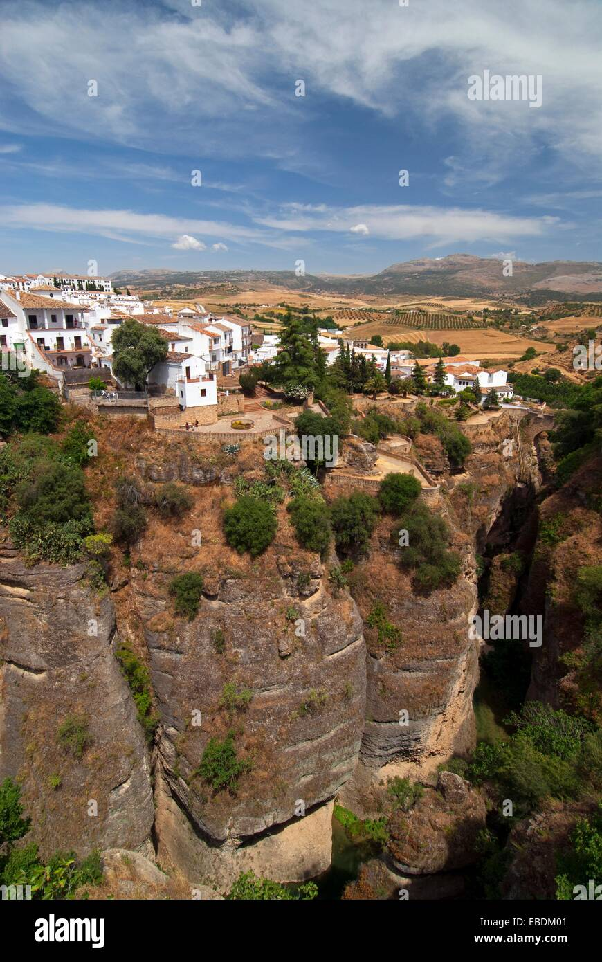landscape of Andalusia, Ronda, inland, Spain - Stock Image
