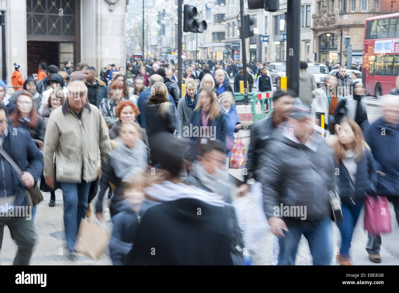 London, London, UK. 28th Nov, 2014. Brisk business is expected today on Black Friday in central London as one of - Stock Image