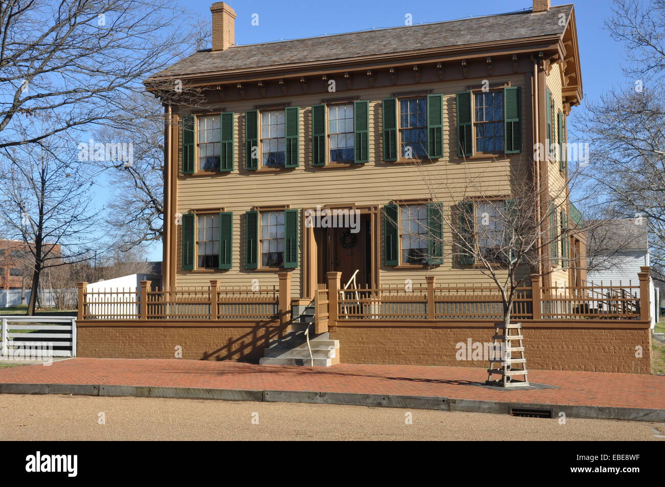 Abraham Lincoln's home in Springfield Illinois. - Stock Image