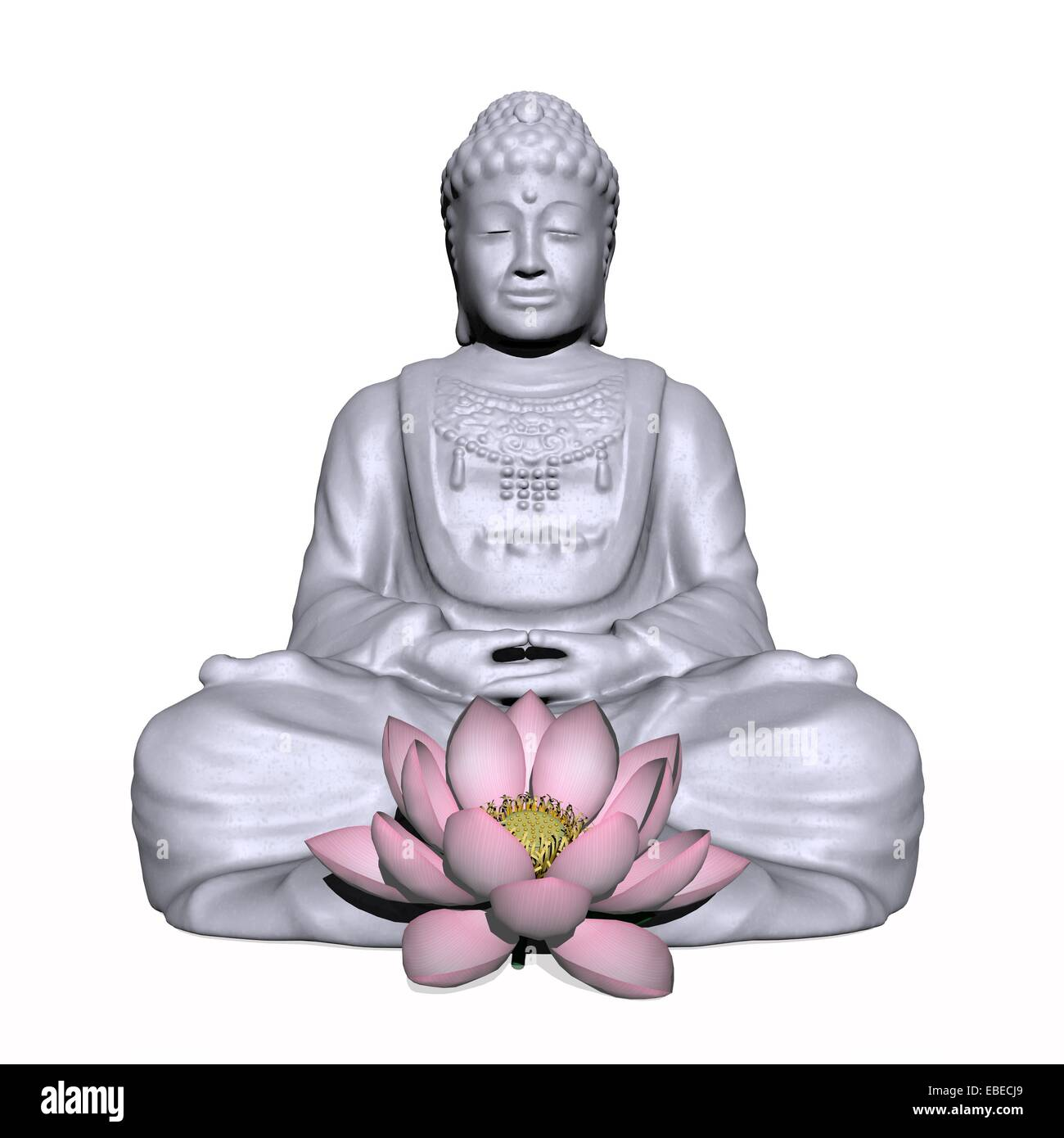 Buddha In Meditation Lotus Flower Cut Out Stock Images Pictures