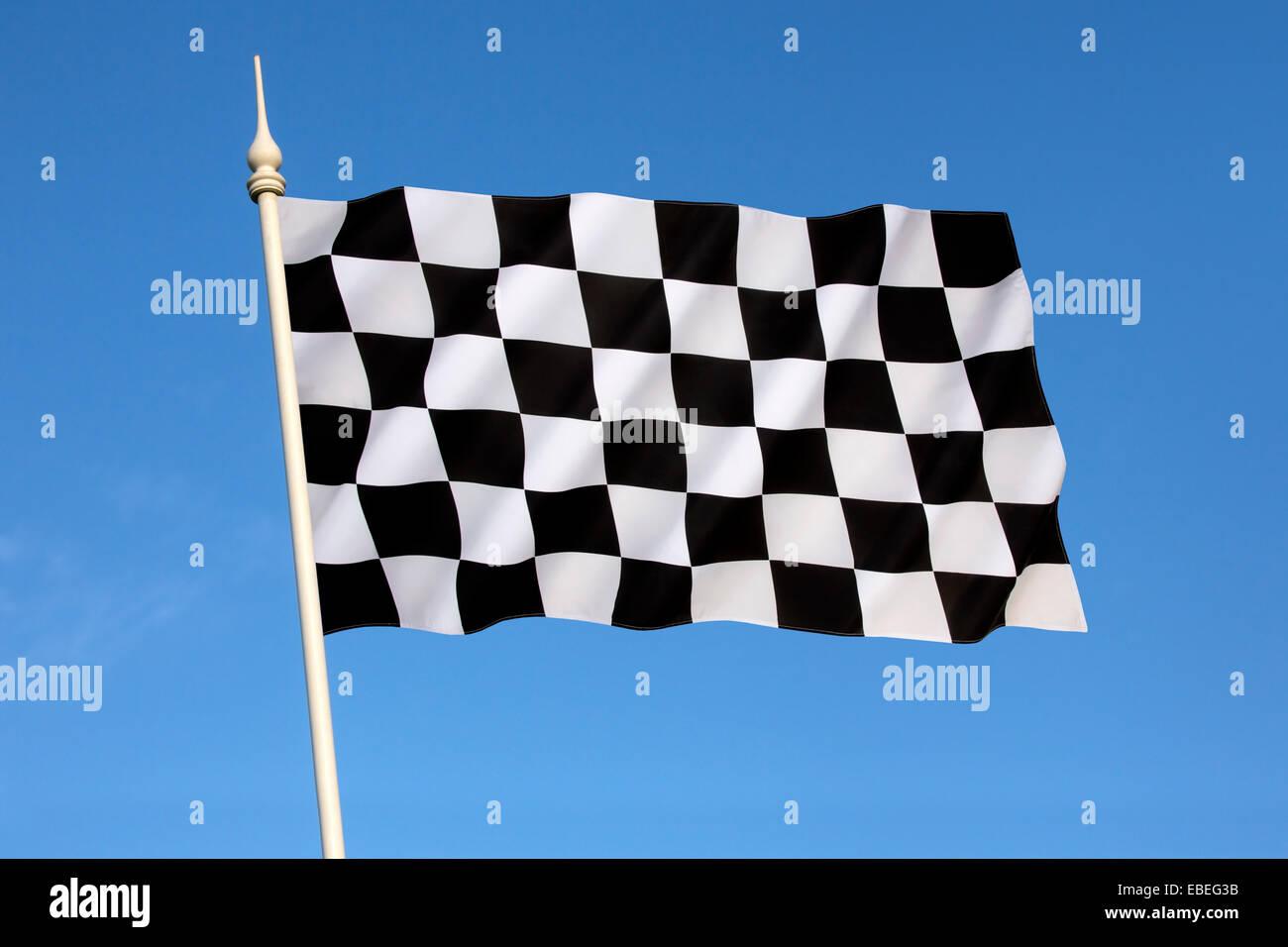 Checkered Flag - Winner - Winning - Stock Image