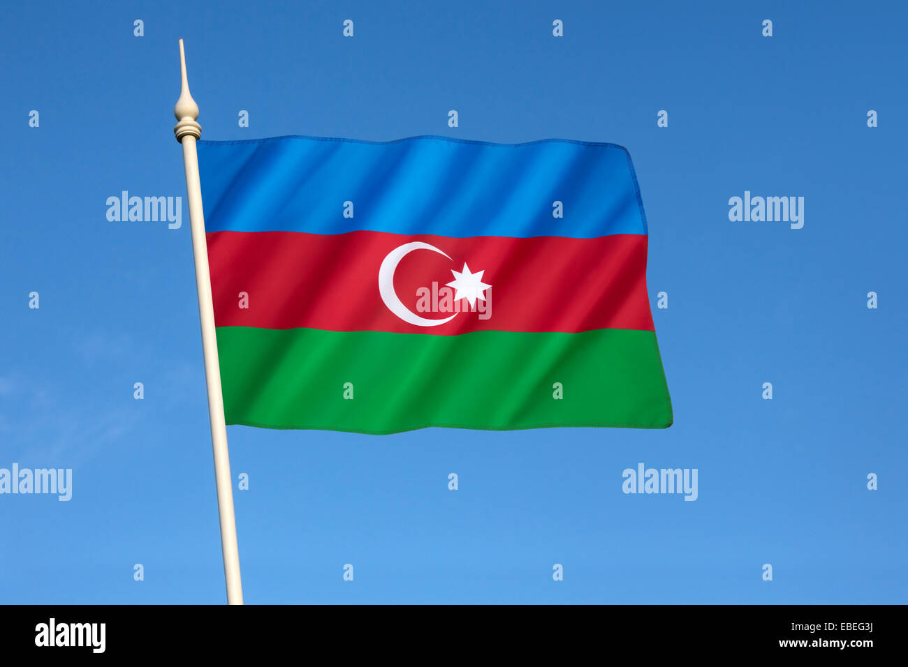 Flag of Azerbaijan - Stock Image