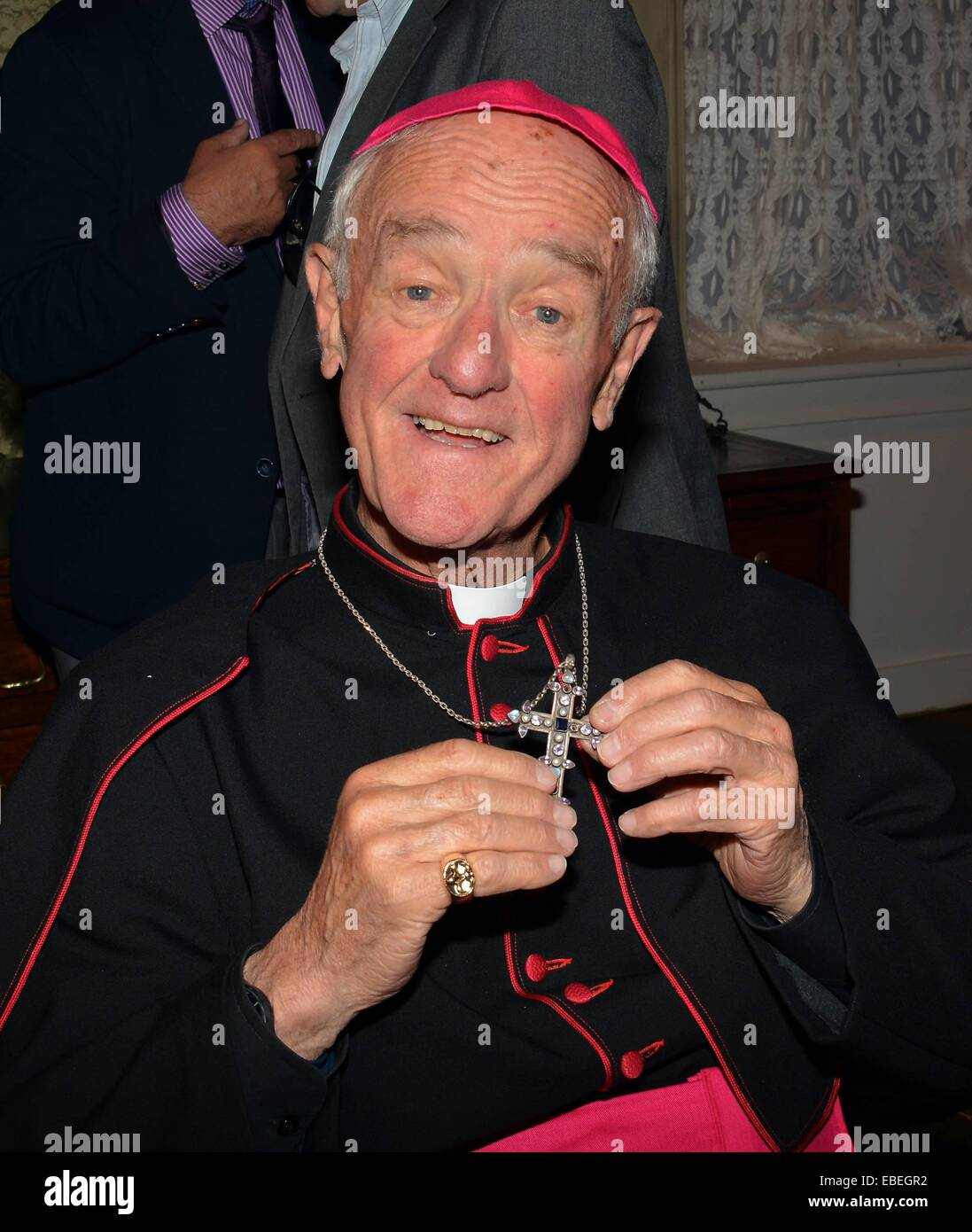 Father Ted's Father Jack actor Frank Kelly dons his priestly