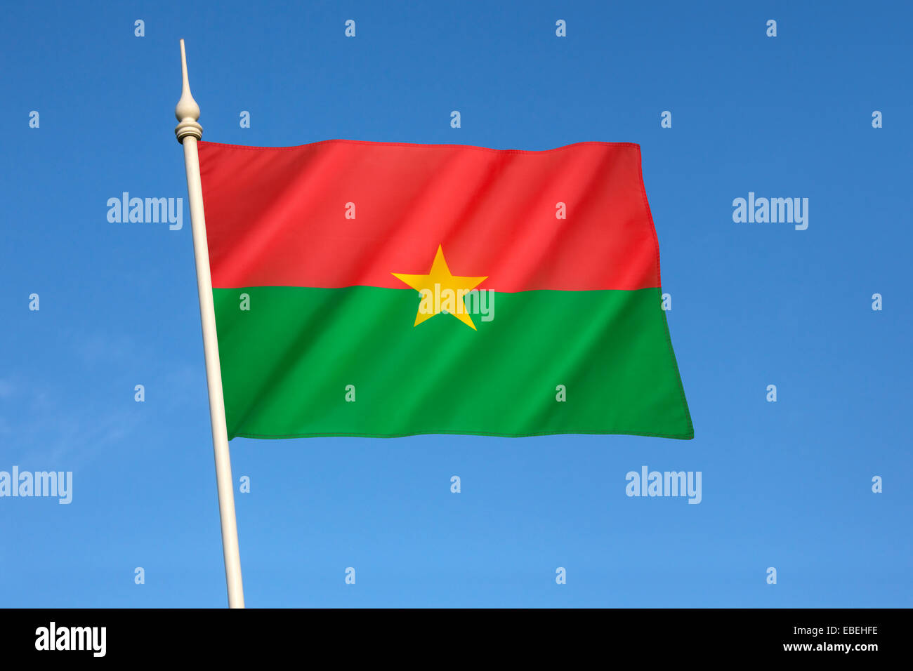 Flag of Burkina Faso - Stock Image