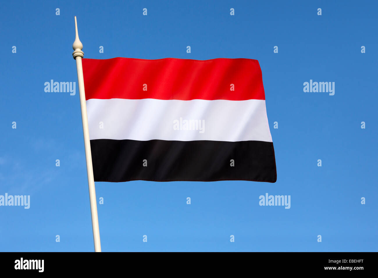 Flag of Yemen - Stock Image