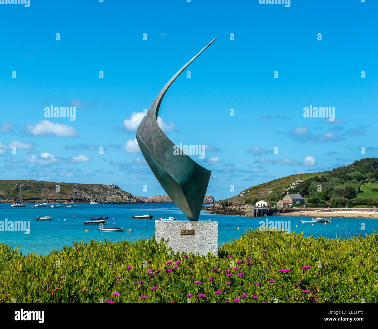 The Flying Boat Club. New Grimsby. Tresco. Isles of Scilly. Cornwall. UK - Stock Image