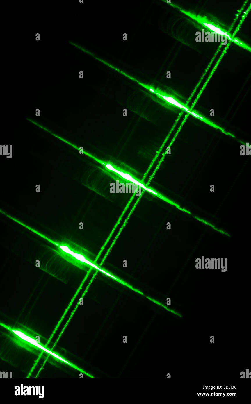 Laser Pen Stock Photos Images Alamy Theus Green Pointer Guitar Strings And Frets Lit By A Image