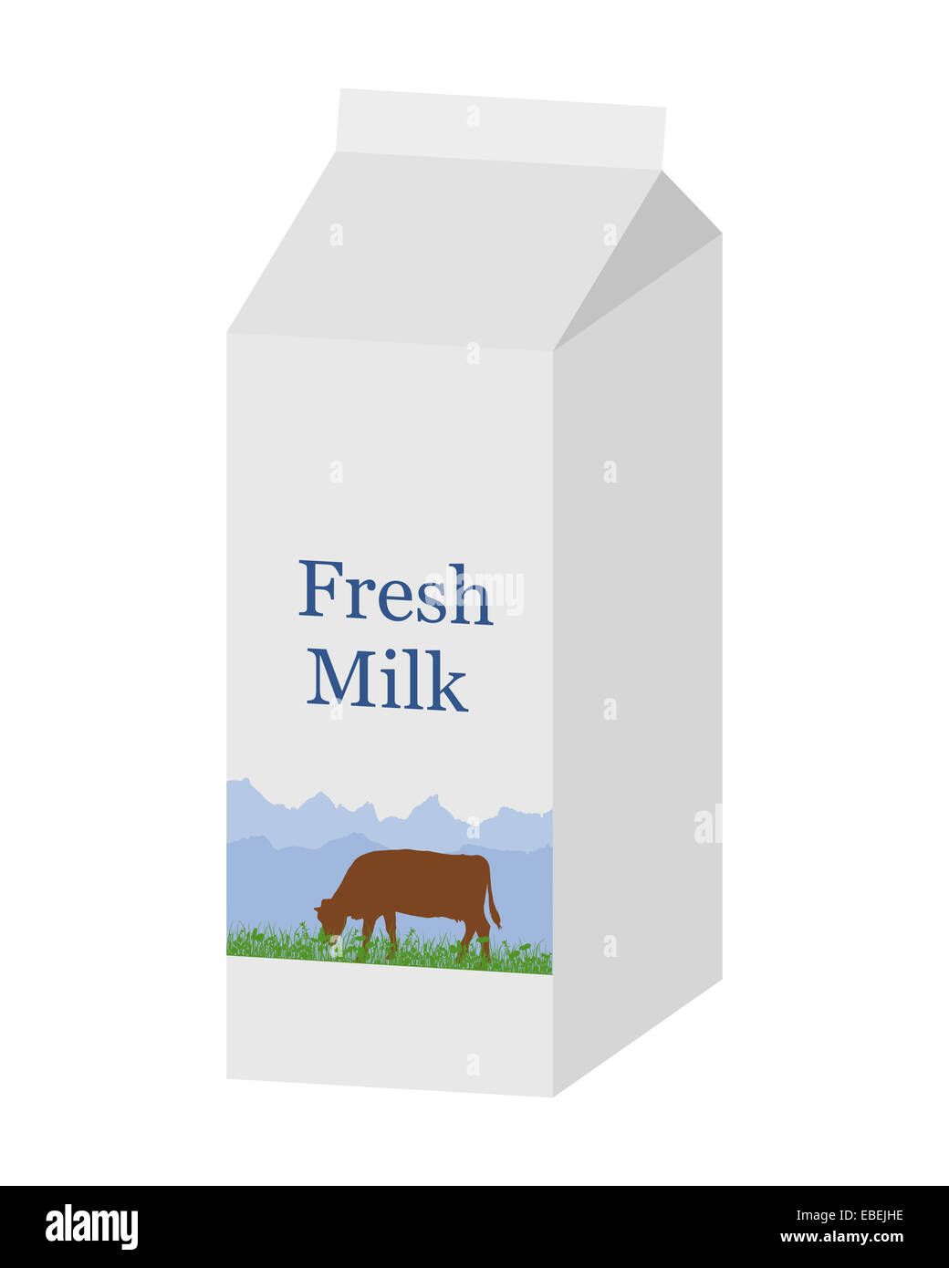 Milk Carton Illustration Stock Photos & Milk Carton Illustration ...