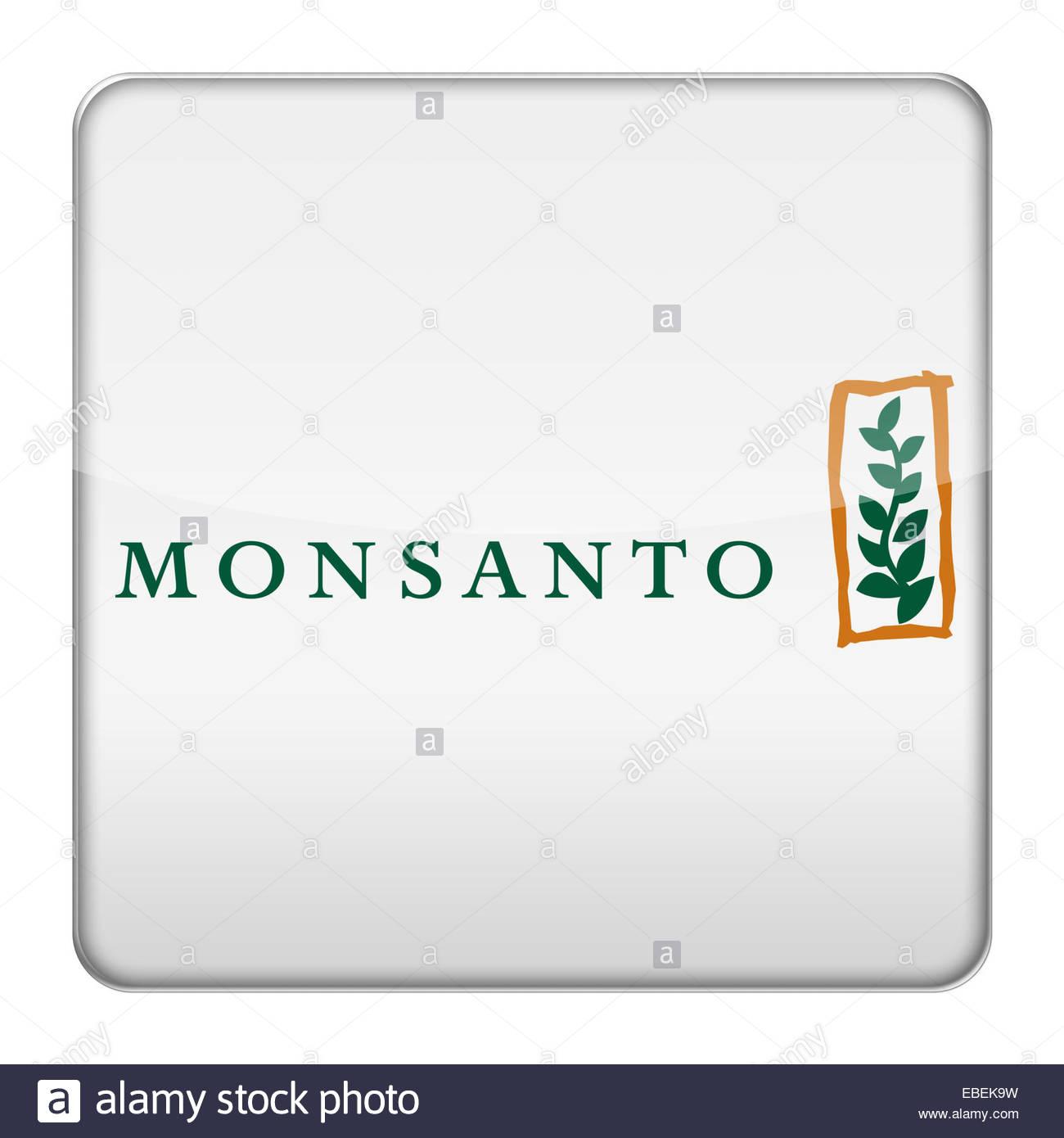 Monsanto logo icon - Stock Image