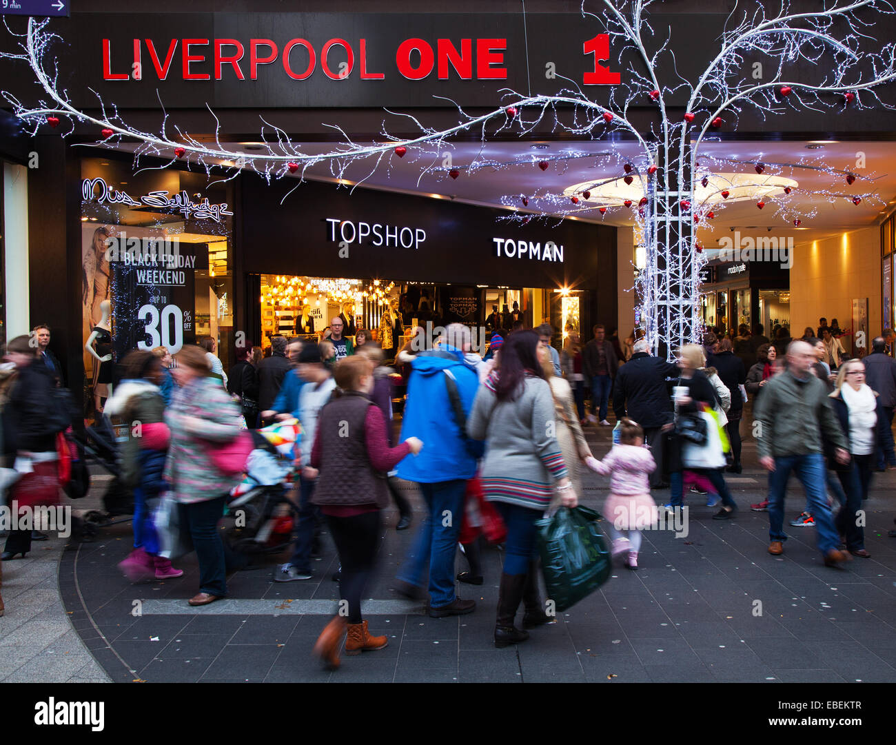 Liverpool, 29th November, 2014  Liverpool One Topshop