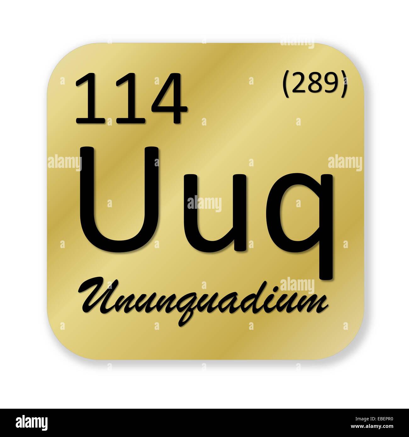 Black ununquadium or flerovium element into golden square shape black ununquadium or flerovium element into golden square shape isolated in white background urtaz Image collections