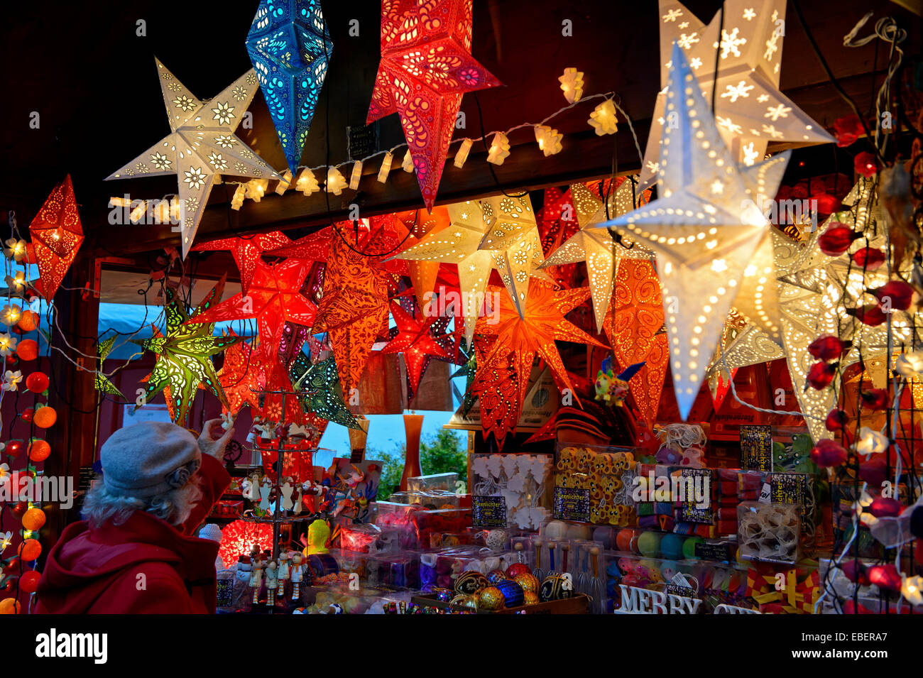 Montreux, Switzerland. 29th November, 2014. The annual Christmas Market in Montreux celebrates its 20 years from - Stock Image