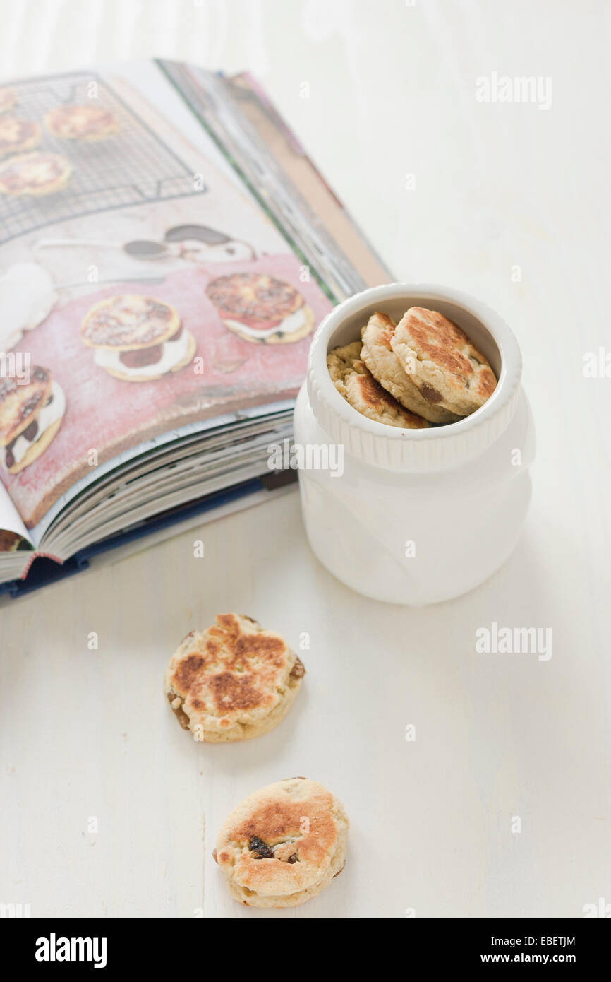 Just baked home made Welsh cakes. - Stock Image