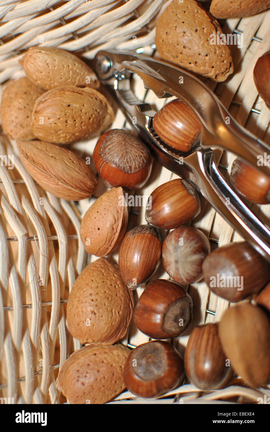 fresh mixed nuts - Stock Image