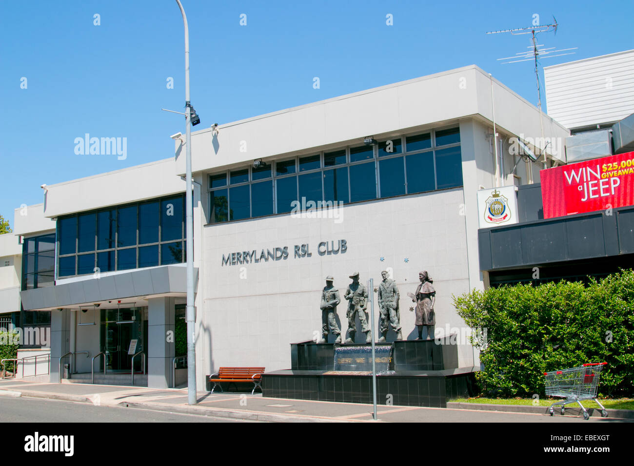 Merrylands RSL club in western sydney,australia - Stock Image