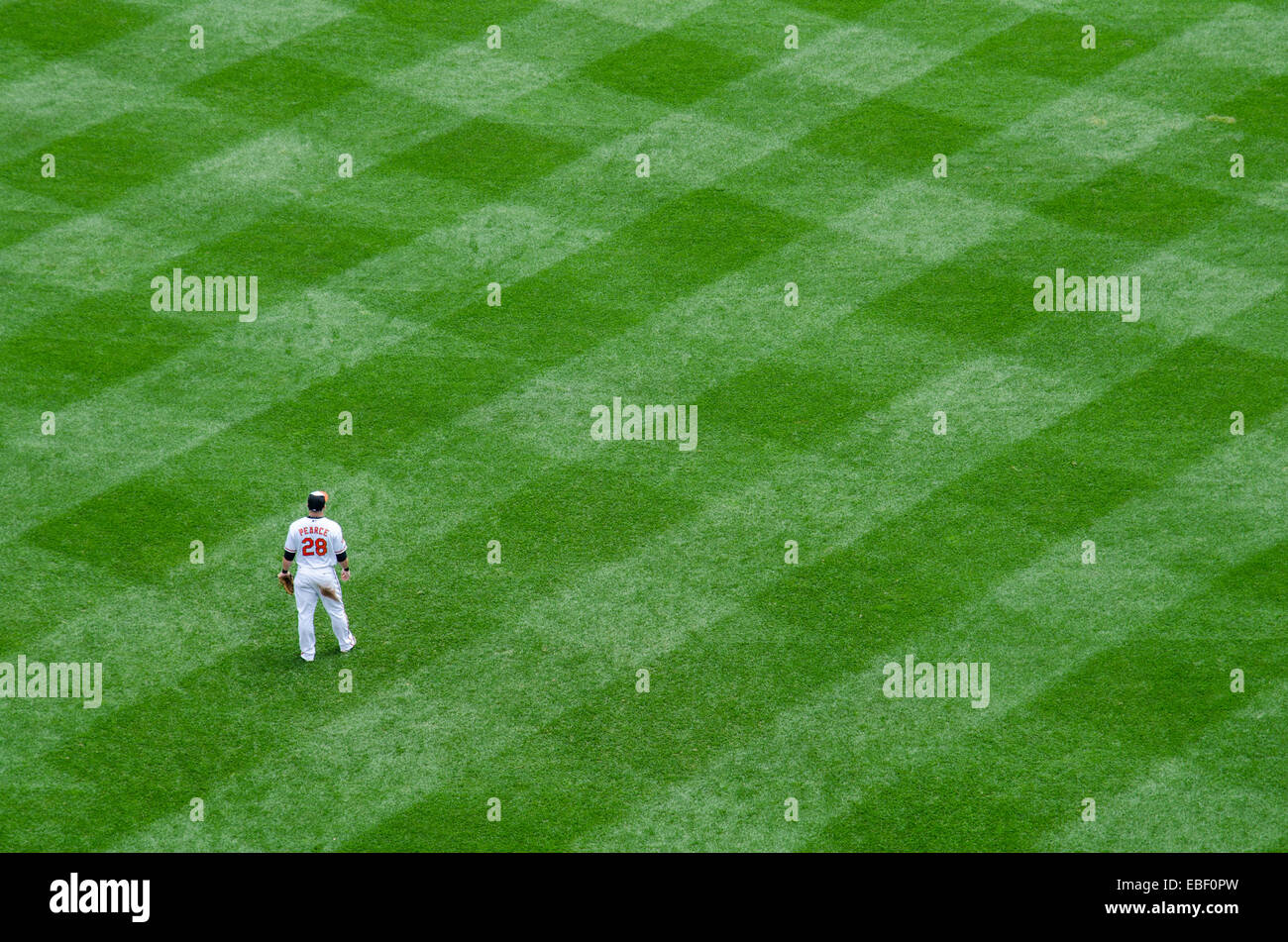 In the outfields at Camden Yards - Stock Image