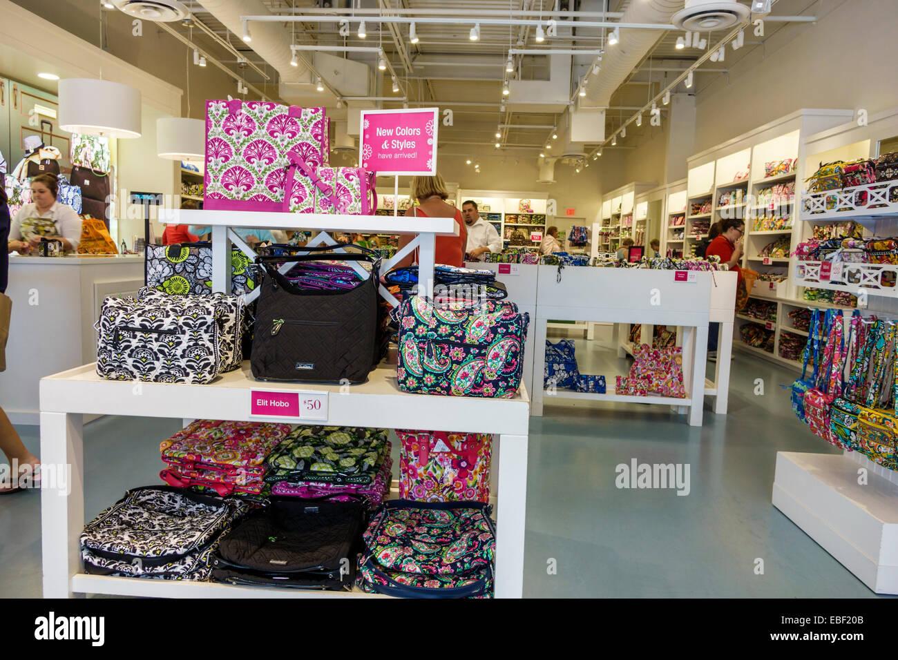 d4e81ae44d92 Orlando Florida Premium Outlets shopping Vera Bradley designer display sale  women s handbags - Stock Image