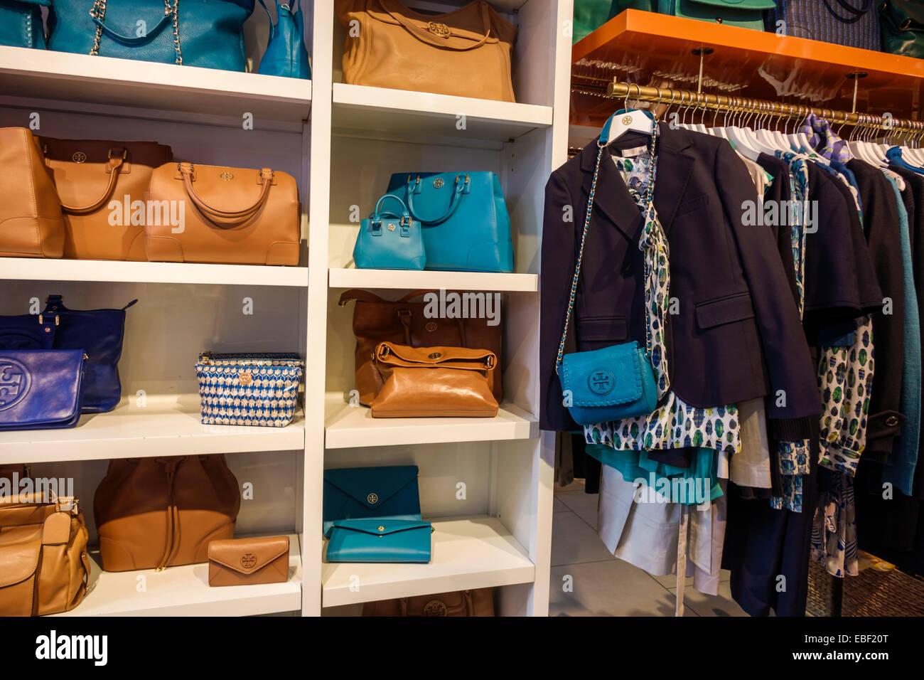aa3798cd642 Orlando Florida Premium Outlets shopping Tory Burch designer display sale  women s handbags clothing inside