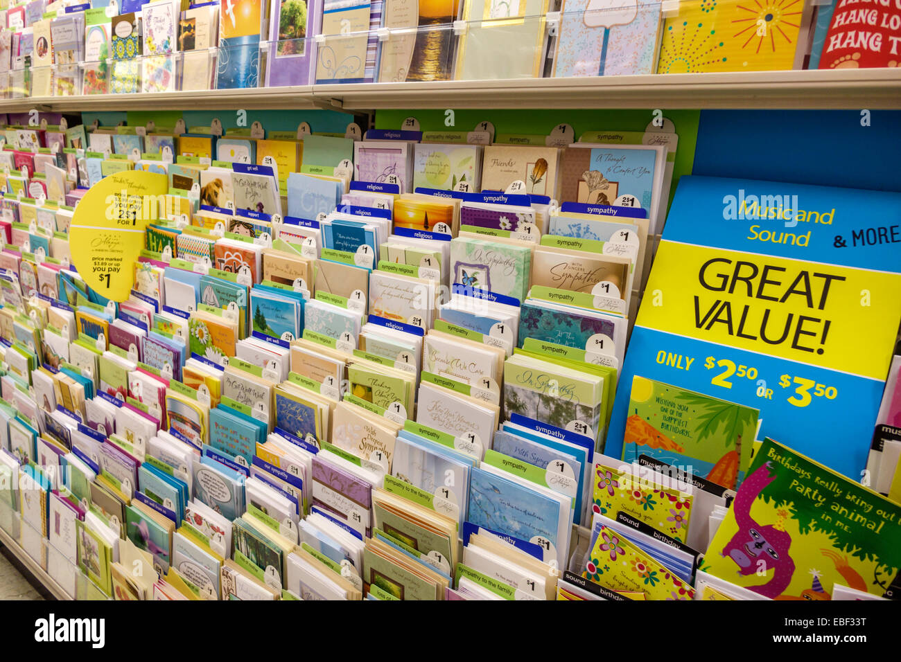 Clermont Florida Dollar General Discount Store Sale Display Greeting Cards