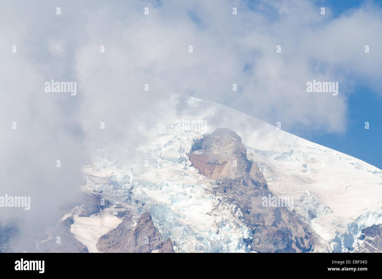 Mount Rainier shrouded in cloud Stock Photo
