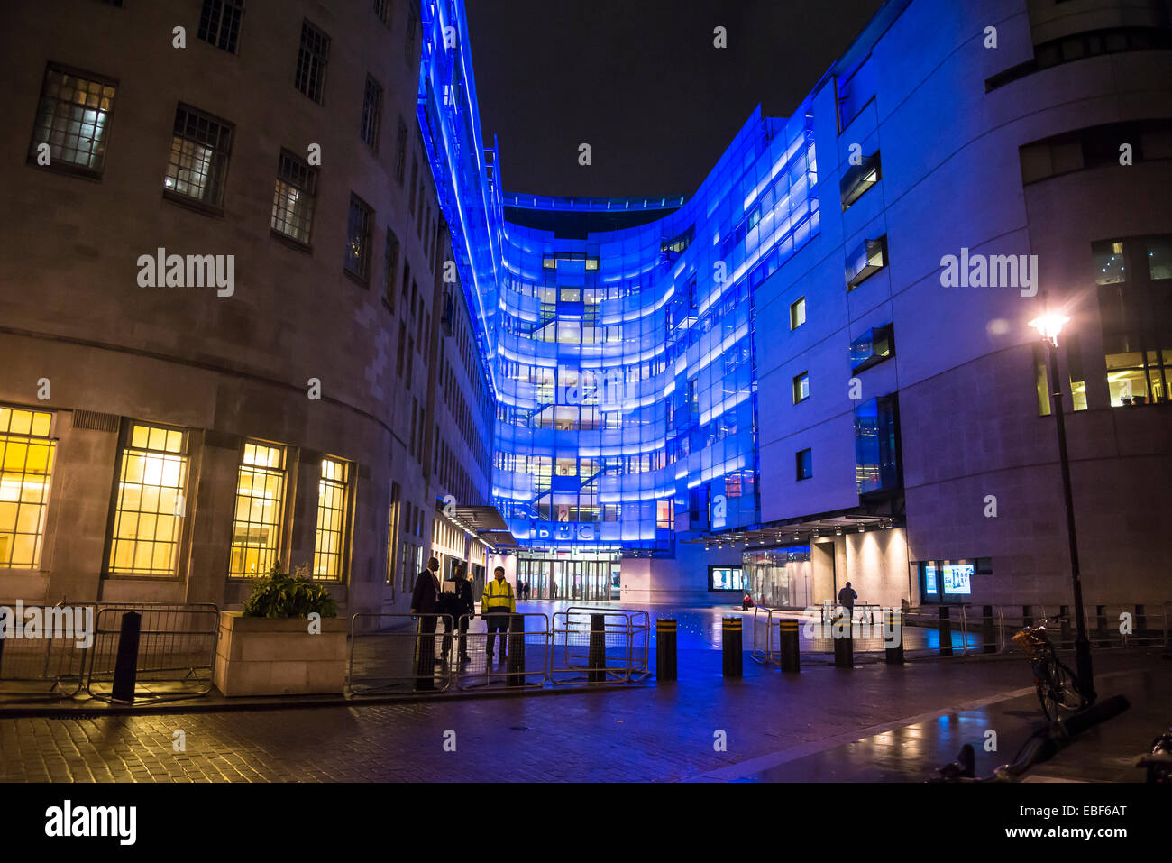 BBC Broadcasting House and new eastern extension, Portland Place, London, England, UK Stock Photo