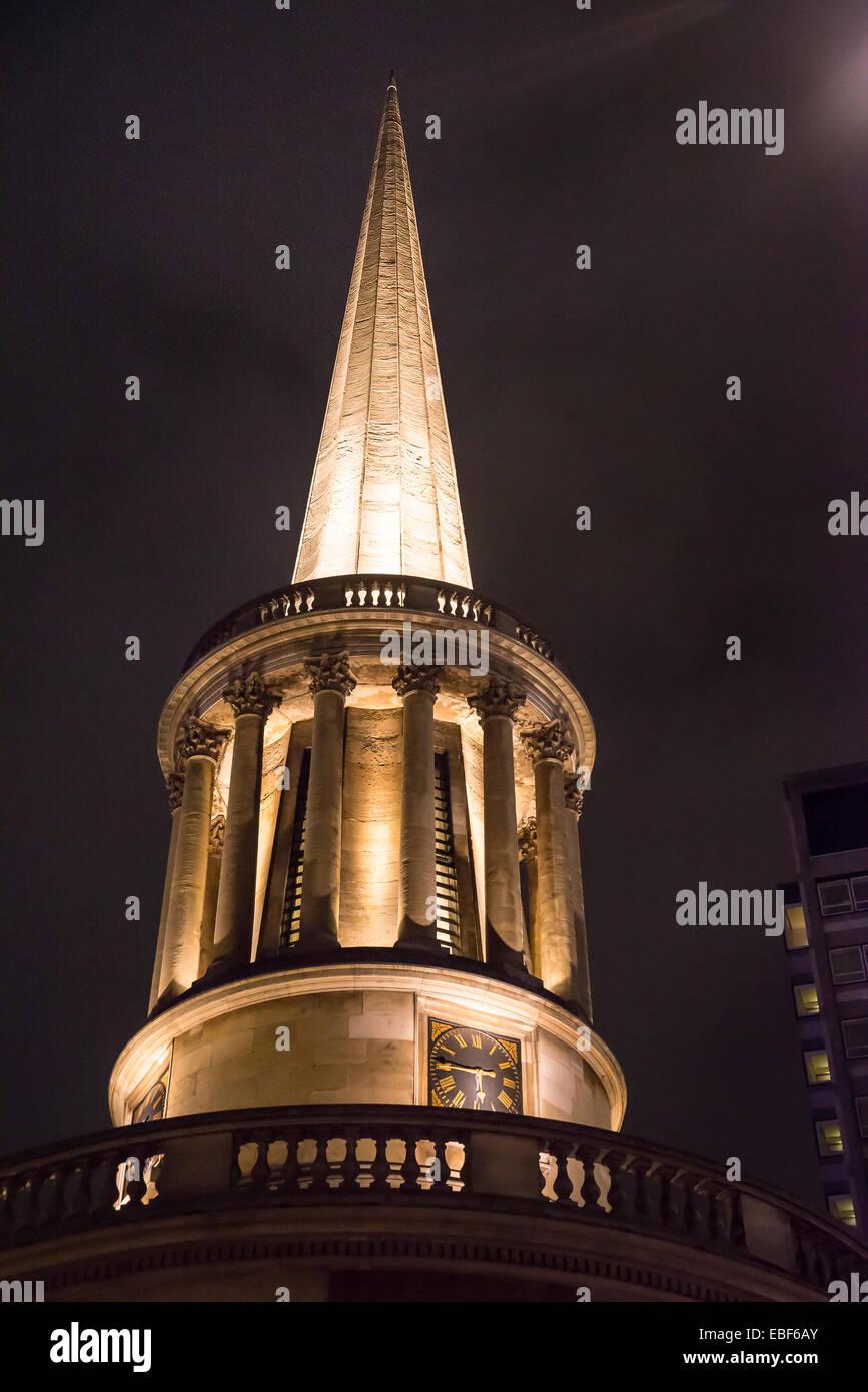 All Souls Church, Langham Place, London, England, UK Stock Photo