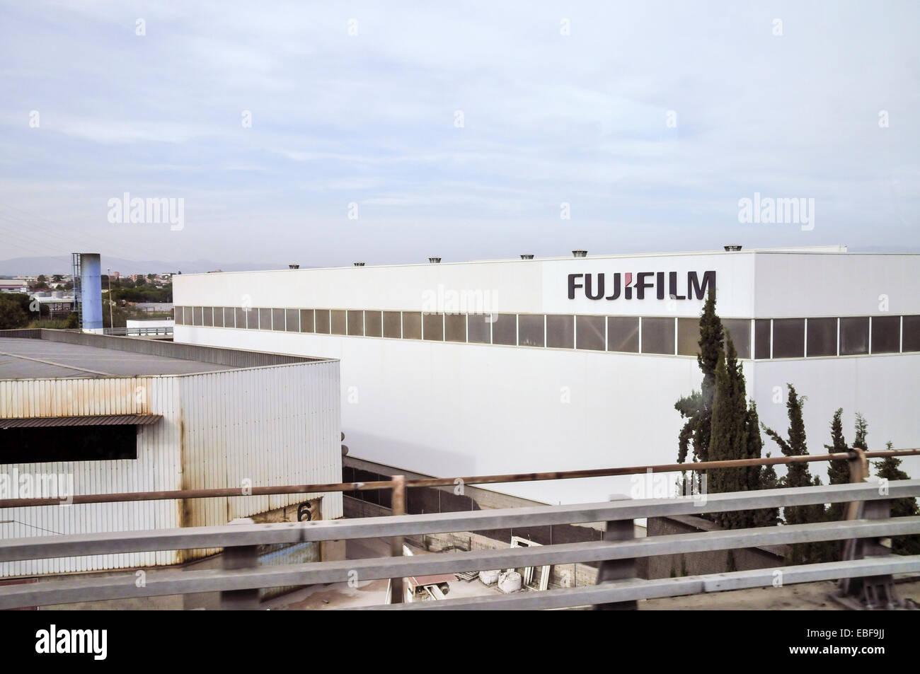 Fujifilm factory in Catalonia, Spain - Stock Image