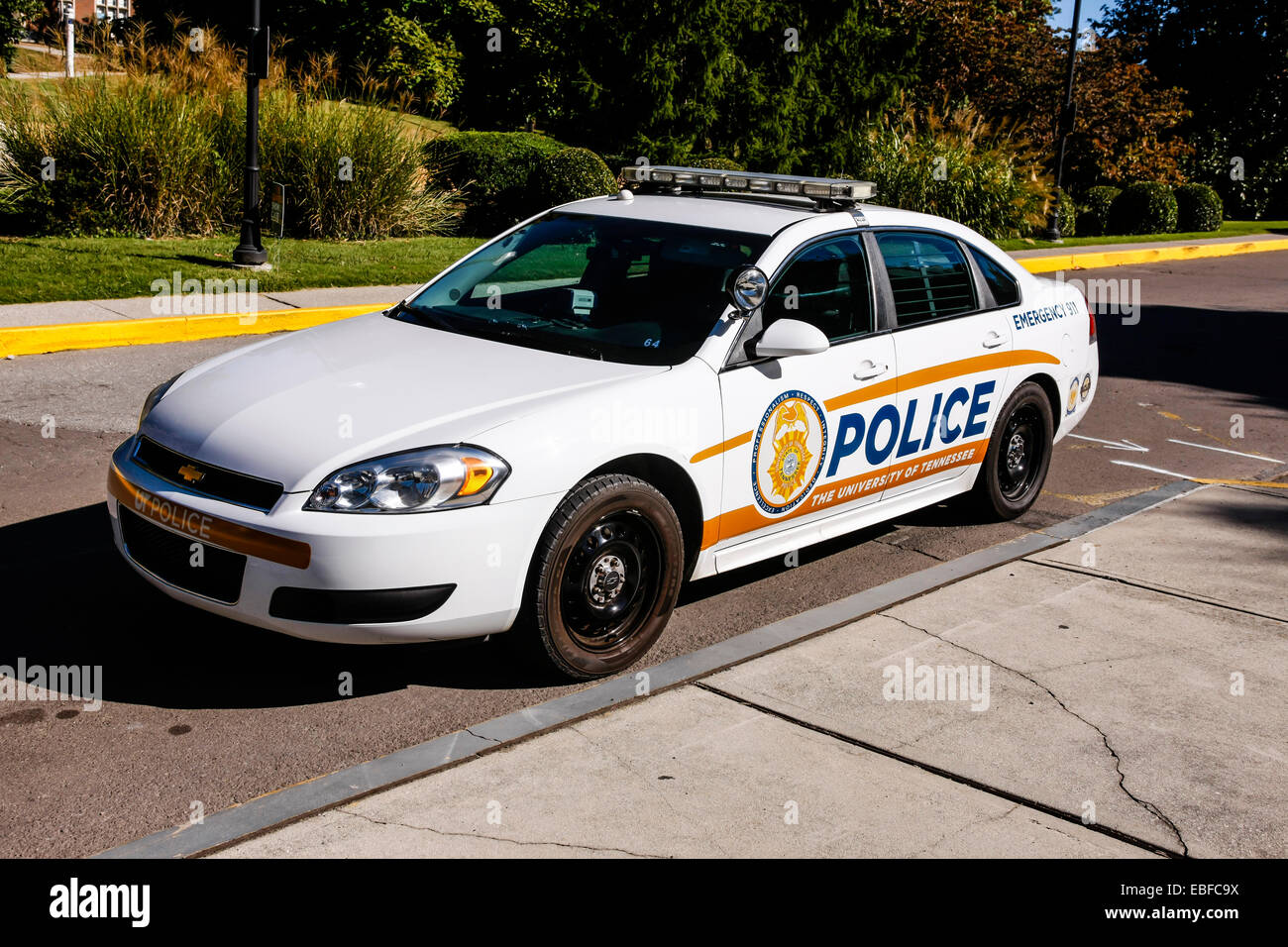 University of Tennessee Police force squad car - Stock Image