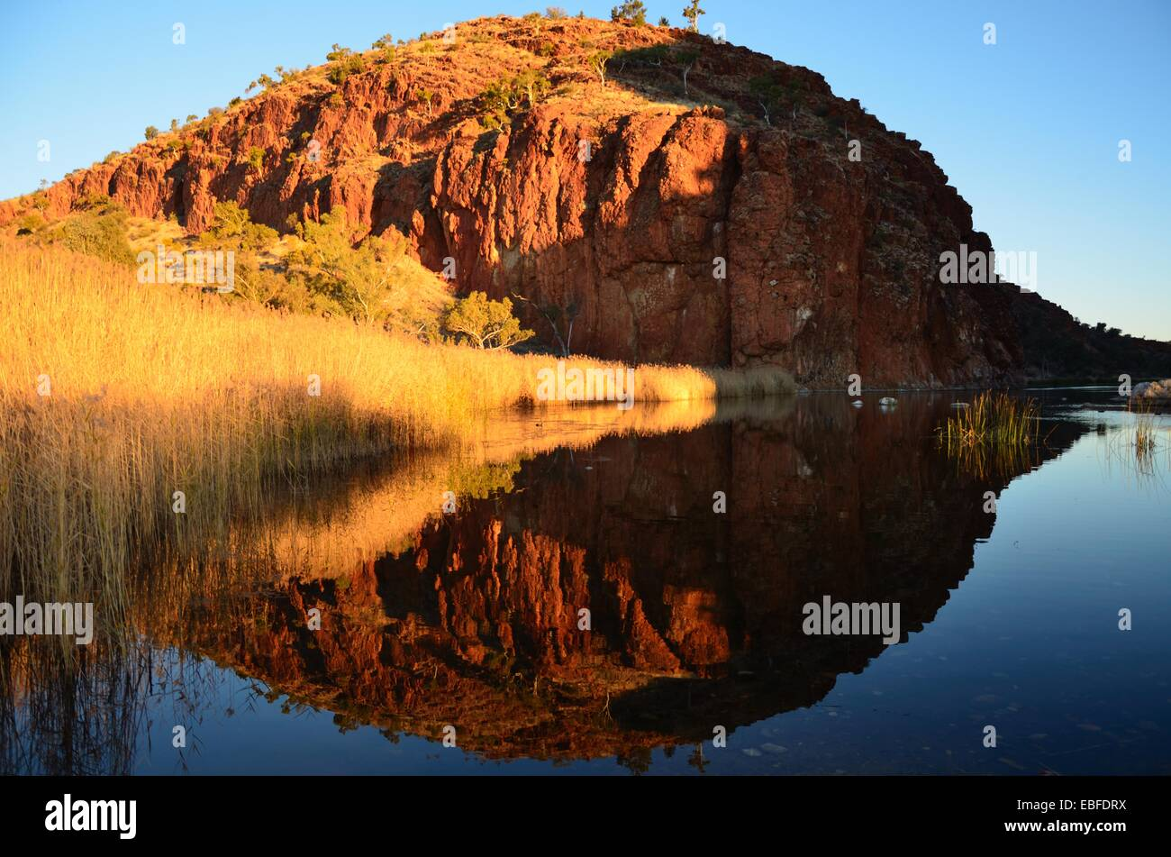 West macdonnell  range, Australian Red Center Stock Photo